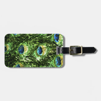 Peacock Design Tag For Bags