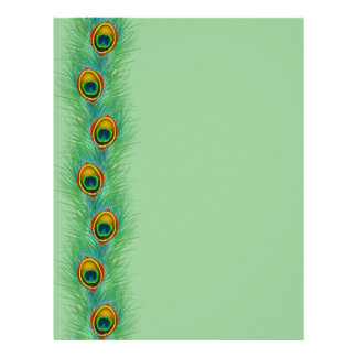 Peacock Design Personalized Gifts Letterhead