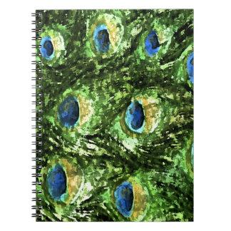 Peacock Design Spiral Notebook