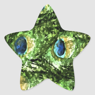 Peacock Design Star Sticker