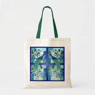 Peacock Design Tote Bag