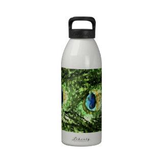Peacock Design Reusable Water Bottle