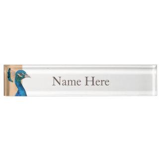 Peacock Desk Name Plate