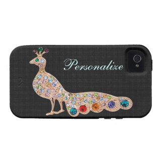 Peacock Diamond Jewels Personalized iPhone 4/4S Vibe iPhone 4 Case