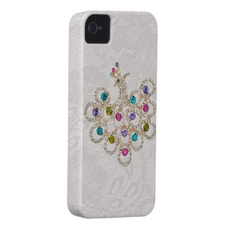 Peacock Diamonds & Jewels Paisley Lace iPhone 4 iPhone 4 Case-Mate Cases