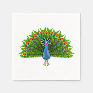 peacock disposable napkins