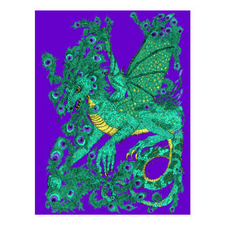 Peacock Dragon Postcard