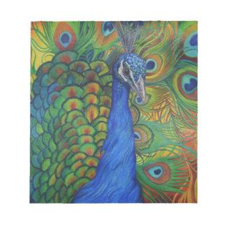 Peacock Drawing Notepad