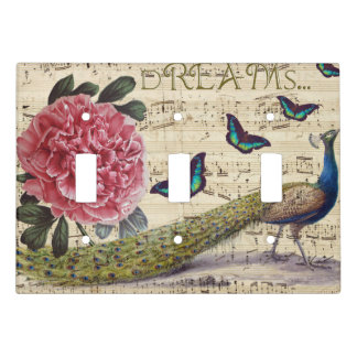 Peacock Dreams Light Switch Cover