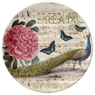 Peacock Dreams Plate