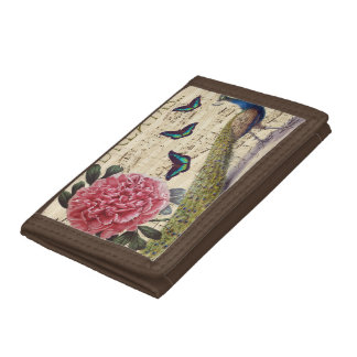 Peacock Dreams Trifold Wallet