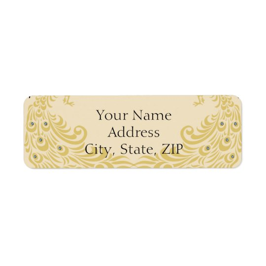 Peacock Elegance Anniversary Return Address Return Address Label