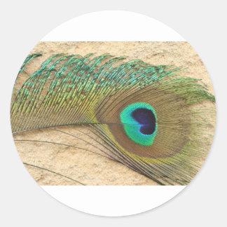 Peacock eye round sticker