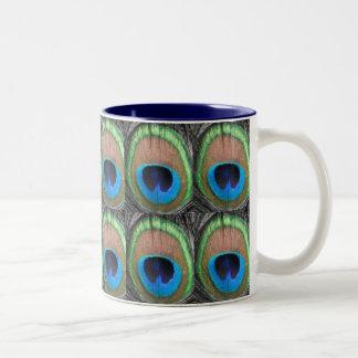 Peacock Eyes Tiled Mug