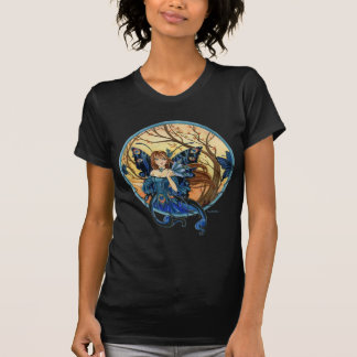 Peacock Fairy ladies T-Shirt by Meredith Dillman