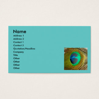 Peacock Feather Abstract Business Card