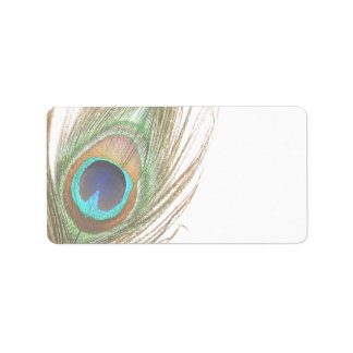 Peacock Feather Address Label