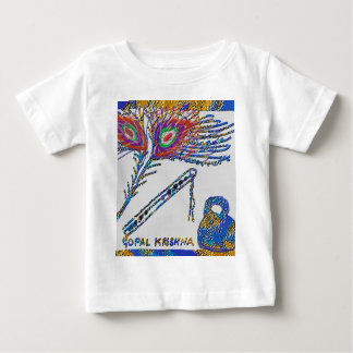 Peacock Feather and Flute - Hare Krishna Tee Shirt