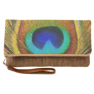 Peacock Feather Art Clutch