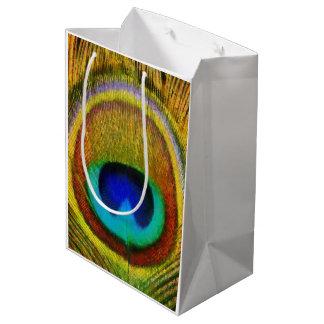 Peacock Feather Art Medium Gift Bag