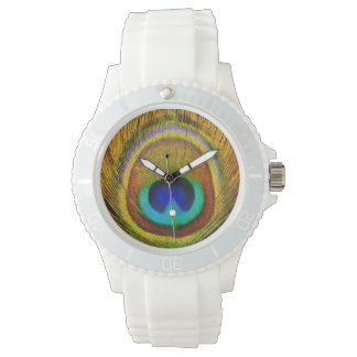 Peacock Feather Art Watch