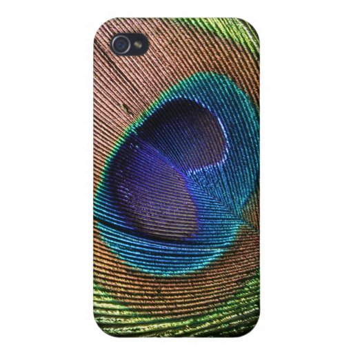 Peacock feather beautiful blue photo iphone 4 case