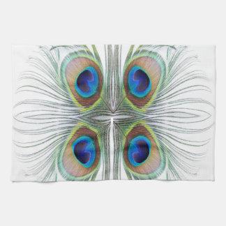 Peacock Feather Bohemian Boho Kitchen Towel