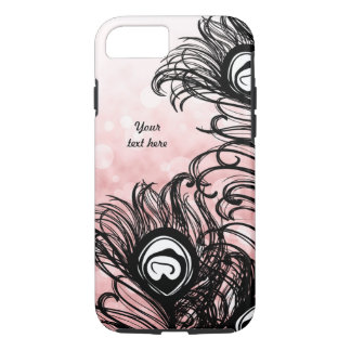 Peacock Feather Bokeh Pink iPhone 7 Case