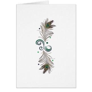 Peacock Feather Border Card