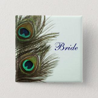 Peacock Feather Bride Pin
