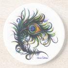 Peacock Feather Coaster