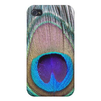 Peacock Feather Cover For iPhone 4