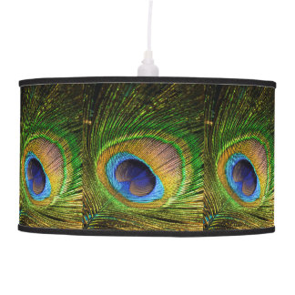 Peacock Feather Detail Pendant Lamp