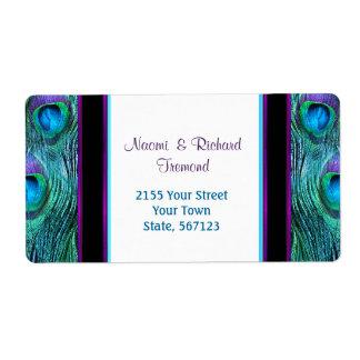 Peacock  Feather Drama -  Address Label