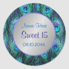 Peacock Feather Drama ver 1 -Sweet 15 Classic Round Sticker