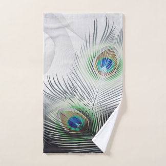 Peacock Feather Fantasy Hand Towel