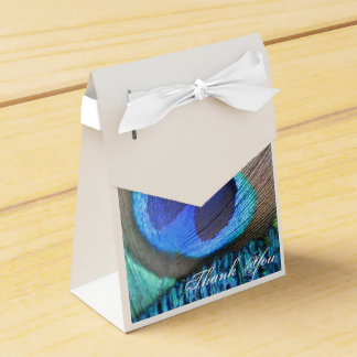 Peacock Feather Favor Bag Party Favor Boxes