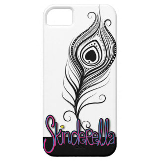 Peacock Feather Girly phone case by Skinderella