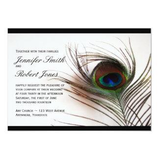 Peacock Feather Glamor Wedding Invitation