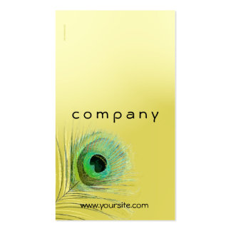 Peacock Feather Gold Blend Business Card
