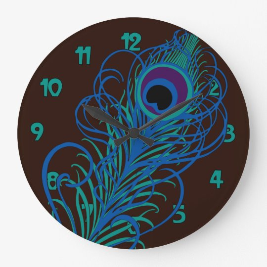 Peacock Feather Graphic Wallclock