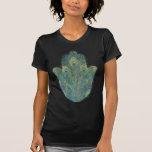 Peacock Feather Hamsa T-shirt