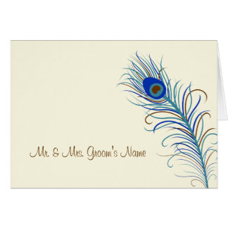 Peacock Feather Informal Card