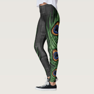 Peacock Feather inspired Leggings
