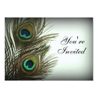 Peacock Feather Invitation - Photo