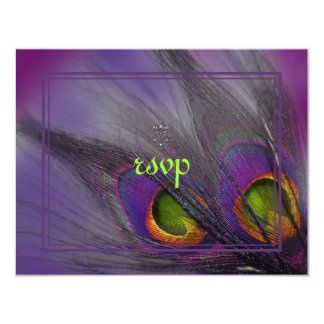 Peacock feather invitations/psychedelic colors card