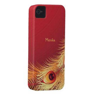 Peacock Feather iPhone 4/4S Case-Mate Barely There iPhone 4 Cases