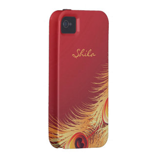 Peacock Feather iPhone 4 Case-Mate Vibe Case iPhone 4/4S Covers