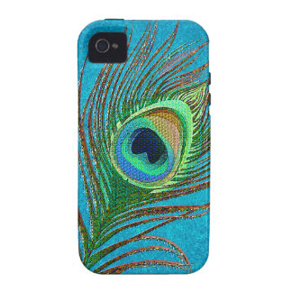 Peacock feather iPhone 4 cases