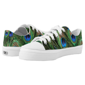 Peacock Feather Low-Top Sneakers